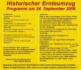 Historischer Ernteumzug, Wiener Neustadt am 24. Sept. 2006, Programm