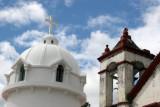 Campanario de la Antigua Iglesia y Cupula de la Nueva Igleasia
