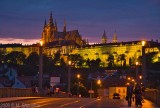 Prague Castle over the Vltava at Night