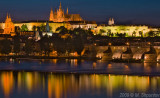 Prague Castle Lights Reflection