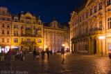 Kinsky Palace at Night, Old Town Square, Prague