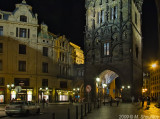 Powder Tower at Night, Prague