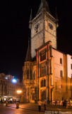 Pargue Old Town Hall and Astronomical Clock Tower at Night.