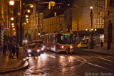 Prague Trams at Night