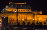 Prague National Theater at Night.