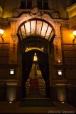 Hotel Entrance at Night, Prague.
