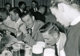 Rear table (L-R) Wrye; Lizotte; Heiler. Foreground table: Thomsen; Borne; Poole; Justice