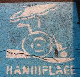 Handicapped walking lane