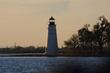 Madisonville Lighthouse on Lake Maurepas at Tchefuncte River