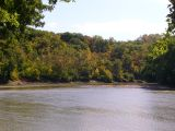 Fall colors on the Des Moines River bluffs at Boone Waterworks