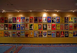 Wall of theatre posters