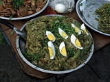 Bell chilies (nam prik noom) with hard boiled eggs