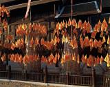 Wat Phan Tao, exterior with flags