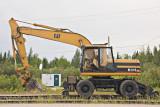 Evcavator on rail