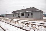 Newly sided Moosonee station 2009 November 7th