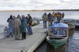 Conference participants heading to Moose Factory