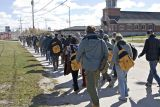 Boreal Conference 2006 participants head down First Street in Moosonee