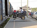 Loading ATV onto Polar Bear Express
