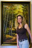 Wanda and painting 10_29_09.jpg