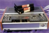 Elvis' JVC U matic 3/4 VCR with Monty Python tapes