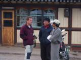 Christian, Karma and Norbu, Jakar, Bhutan