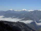 View from summit of the Cheli la pass
