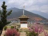 Gangtey Palace Hotel gardens, Paro, Bhutan