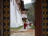 Looking through the outer entrance gate, Punakha Dzong