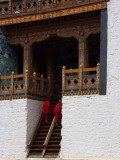 Entrance to the temple, Punakha Dzong