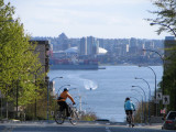 Cycling down Lonsdale, City of North Vancouver