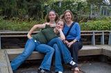 The girls take a pose