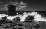 Rock Formations and Crashing Waves