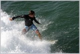 Surfing off the Crystal Pier
