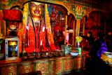 The tossing of the Tibetan khatta.