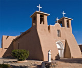 Rancho De Taos Church in bright sun