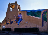 Wall mural photographed in Taos, NM