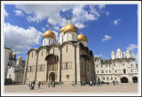 Cathedral Square in Kremlin in Moscow, Russia