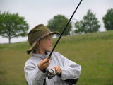 Enthusiastic Young Angler