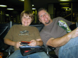 10/17 - We had a LONG wait at LAX.  Got there at 5:45am (YAWN!) for our 8:45 flight and breezed through security.  EXCITED!