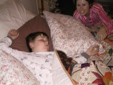 Back in Feb of 2005, this is Brendon sleeping with his Juedemann 'Kids Mib'.