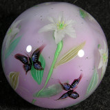 Lilies and Butterflies Size: 1.47 Price: SOLD