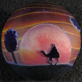 Desert Sunset Size: 1.61 Price: SOLD