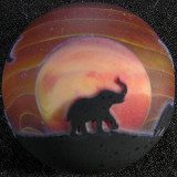 Serengeti Sunset Size: 1.58 Price: SOLD