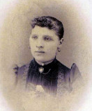 Shown above is the only known photograph of, Antalena Barnas, also known as, Alena [Barnes] Johnson. My own daughter, Hazelmarie Alena Rosina, gets a portion of her name from this woman. She was born 23 August 1872 in Kristinastad, Vasai, Finland. She was one of nine known children, six of them daughters, born to, Johann Aaron Barnas, & his wife, Maria Halena. She married William Johnson in 1893 and shared four known children. After her husband's death in 1902, she worked & helped to run, the JOhnson House in Newberry for many years afterwards.