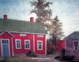 Above is an original oil painting, depicting the Mattssen, or, Mattson family farm, located in Skutnaeba, Finland. This original copy hangs in the home of Lucile Alena [Mattson] Robinson.