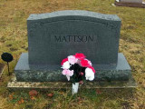 Above is the family gravestone for the Mattson family. It's located in Forest Home Cemetery, Newberry, Luce, MI.