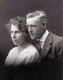 This is the coolest shot. I presume this is a wedding photograph, however I don't honestly know. I scanned it from a box of pictures I found in the closet of my grandparents home. It shows, George Emil Mattson & his wife, Alma Alena [Johnson] Mattson.