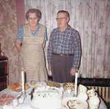 Shown above is the 50th wedding anniversary party for, George Emil Mattson & his wife, Alma Alena [Johnson] Mattson. This scan is of poor quality & I'm sorry about that. I didn't have a very good scanner when I scanned these, and I do not own the originals
