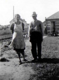 Once again, a scanned photograph of my great grandparents, George Emil Mattson & his wife, Alma Alena [Johnson] Mattson.