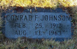 Conrad F. Johnson was the sixth child of eleven & the fourth son born to, Victor Charles Johnson & his wife, Amanda [Barnes] Johnson. We do not know where he was born or where he died. Everything we know was gathered from this gravestone in the Johnson Family Plot, Forest Home Cemetery, Newberry, Luce, MI.
